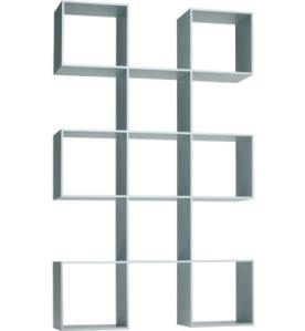 This geometric shelves are great fun and would be excellent  to decorate with.