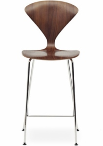 This is a fantastic shape for a bar stool. Very unique, the color of the wood is gorgeous too.